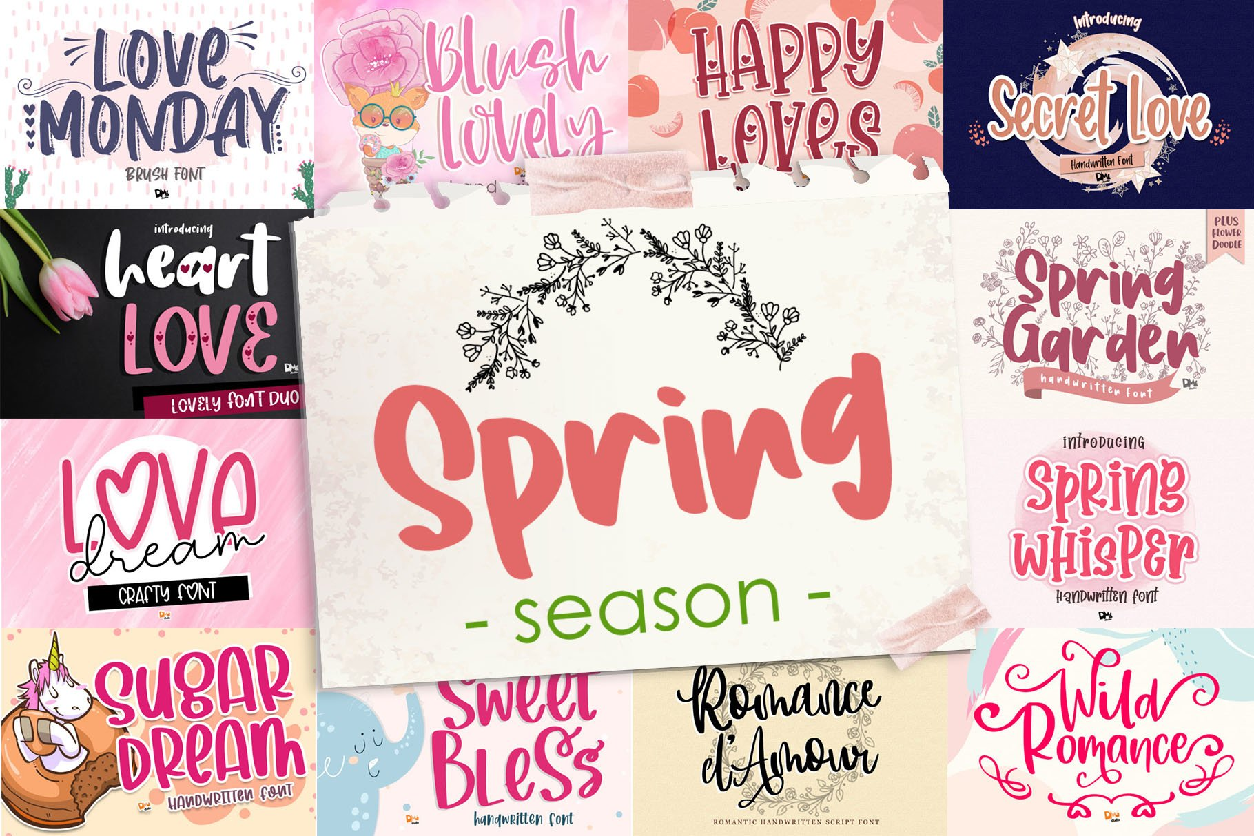 BIG BUNDLE - Seasonal Crafting Font Collection!! example image 2