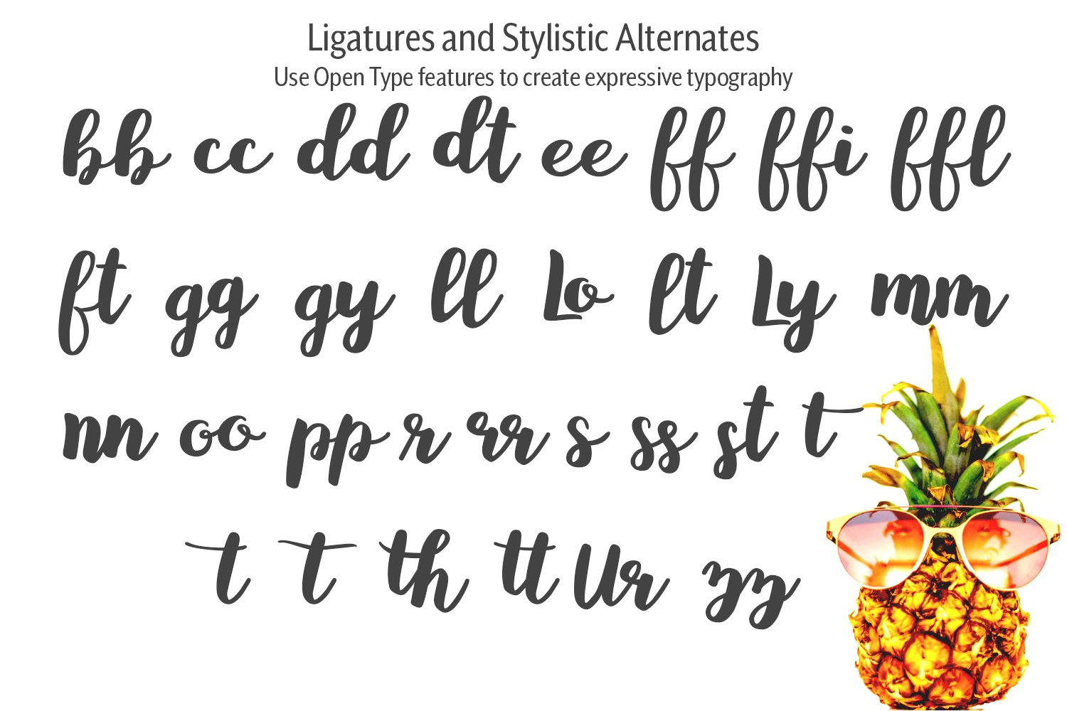 Baby Pineapples - A Sweet and Sassy Script font example image 12