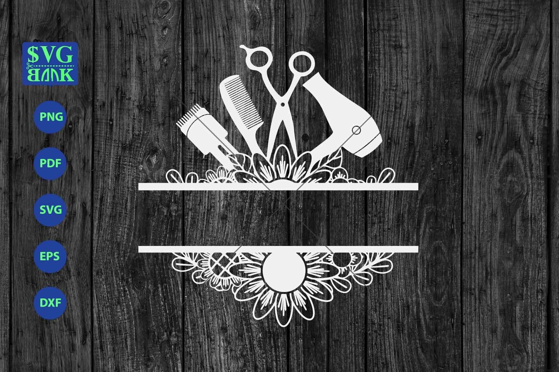Download Hair Salon Split Monogram Svg Hair Salon Tools Svg Dxf 309412 Cut Files Design Bundles
