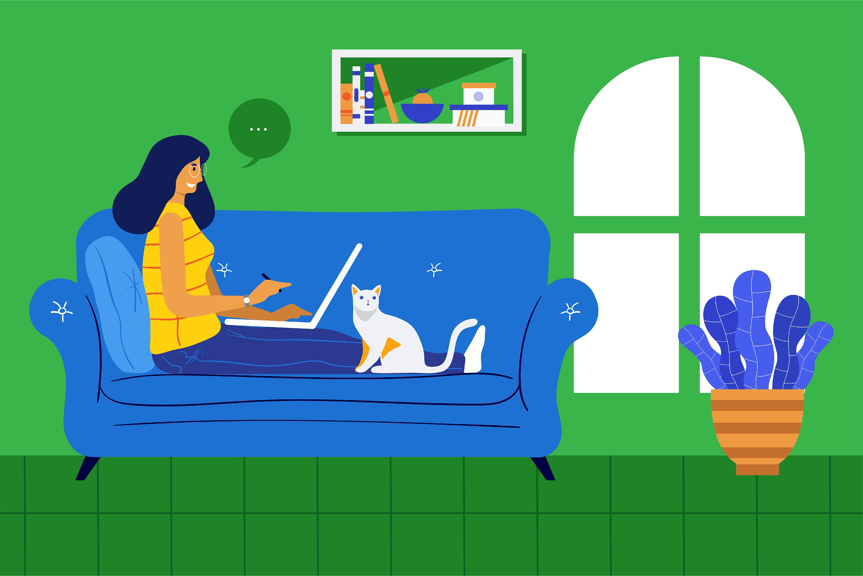 4 Bundle Illustration Style Work From Home example image 4