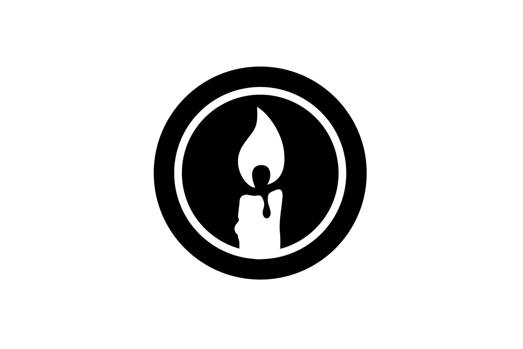 Round circle colorful logo design candle candle Logo colorful flame flowers candle logo round watermark candle candle flame logo