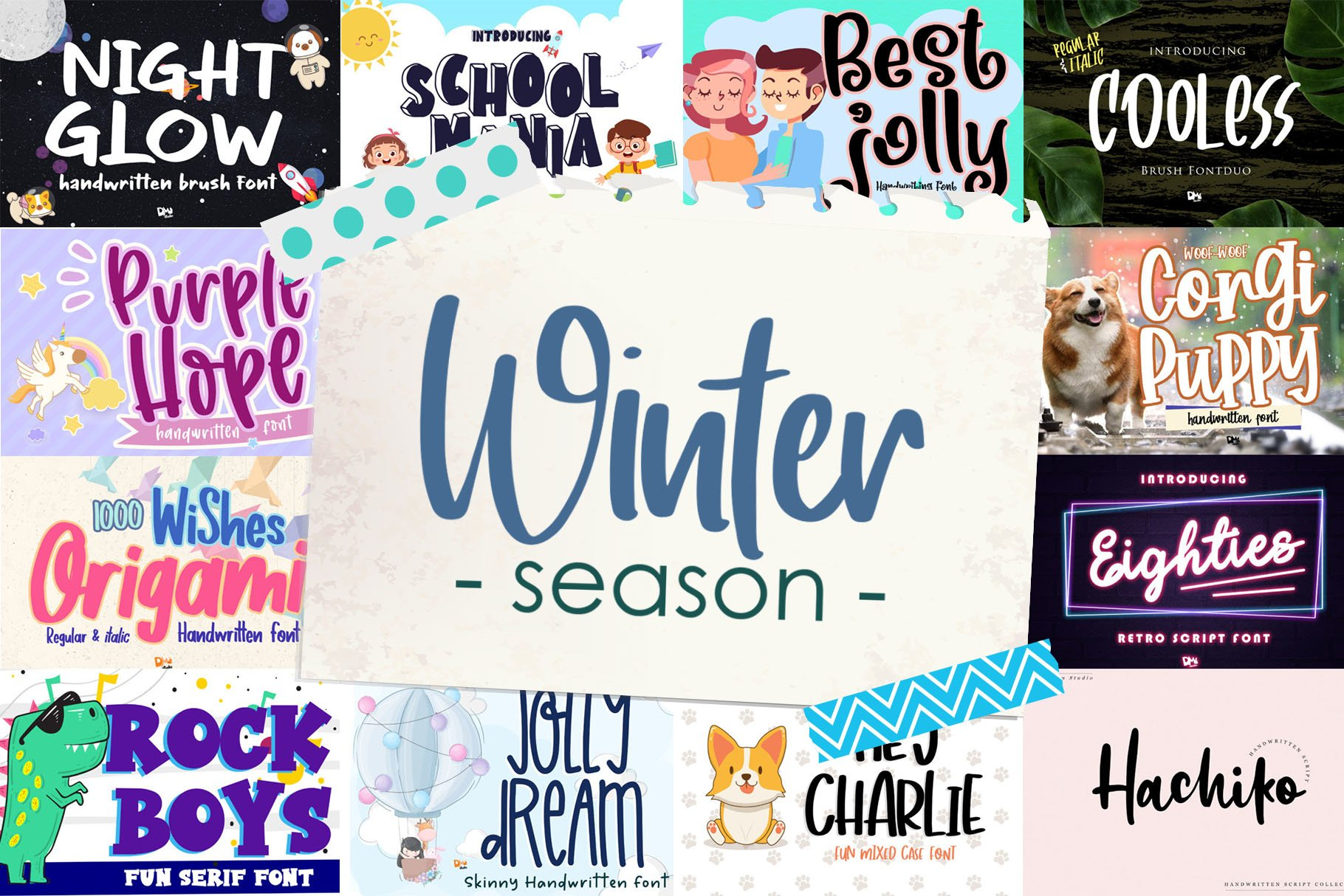 BIG BUNDLE - Seasonal Crafting Font Collection!! example image 11