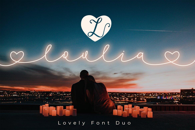 Lovlia | Script and Monogram Font Duo example image 1