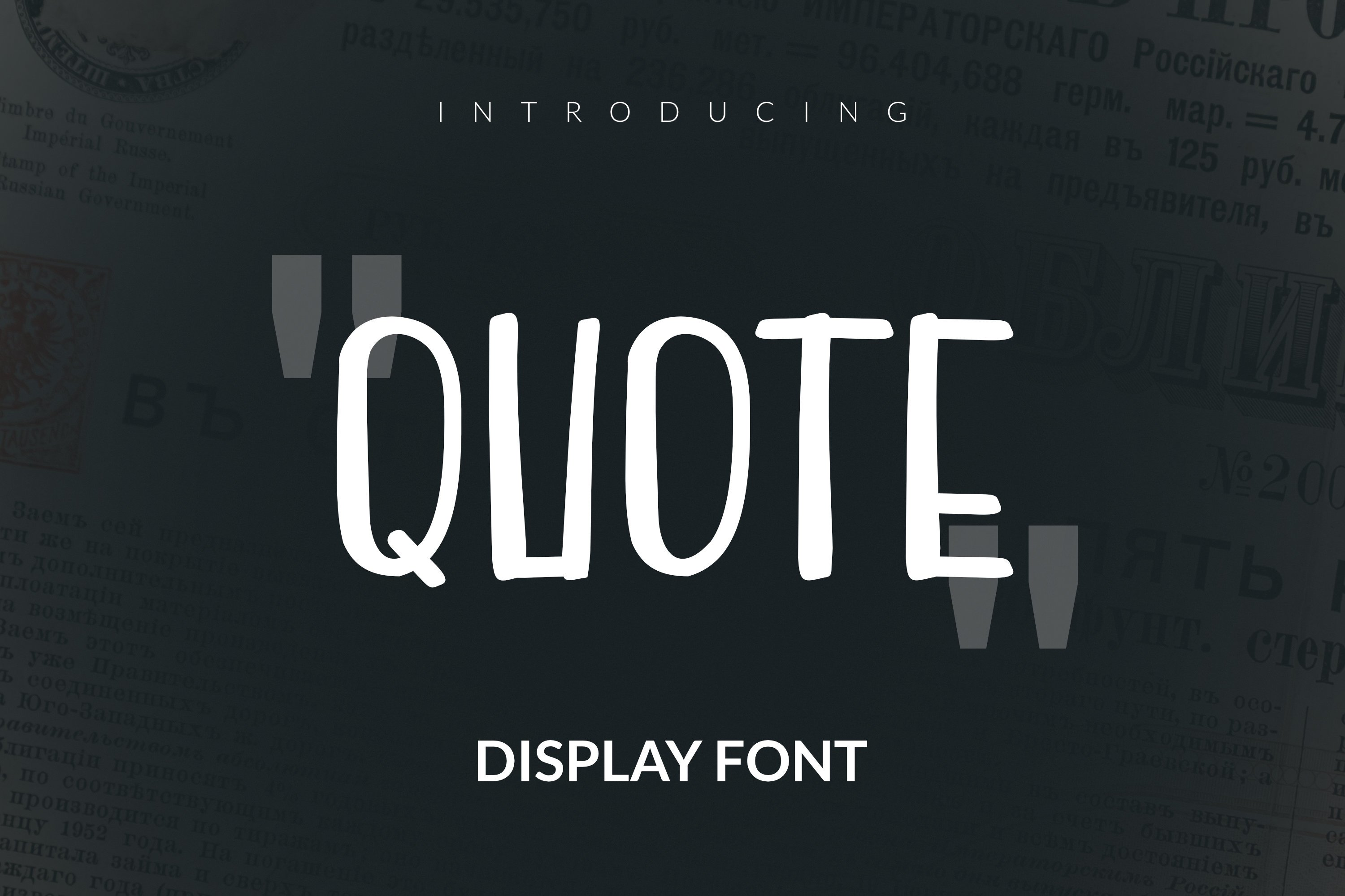 Quote Font example image 1