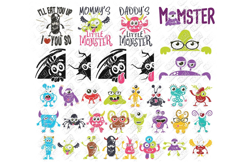 Monster Svg Bundle Halloween In Svg Dxf Png Eps Jpeg 138612 Cut Files Design Bundles
