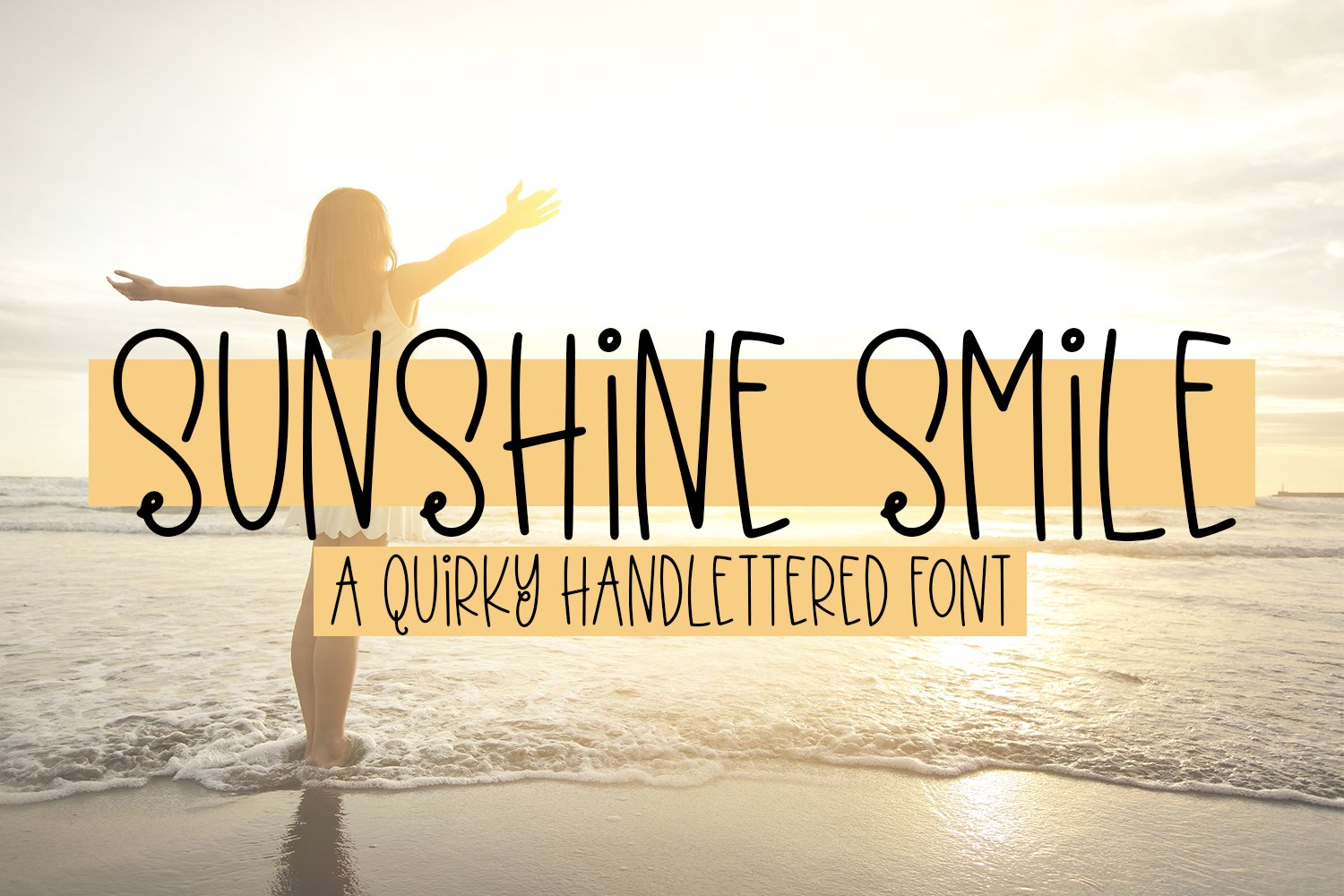 Sunshine Smile - A Quirky Hand-Lettered Font example image 1