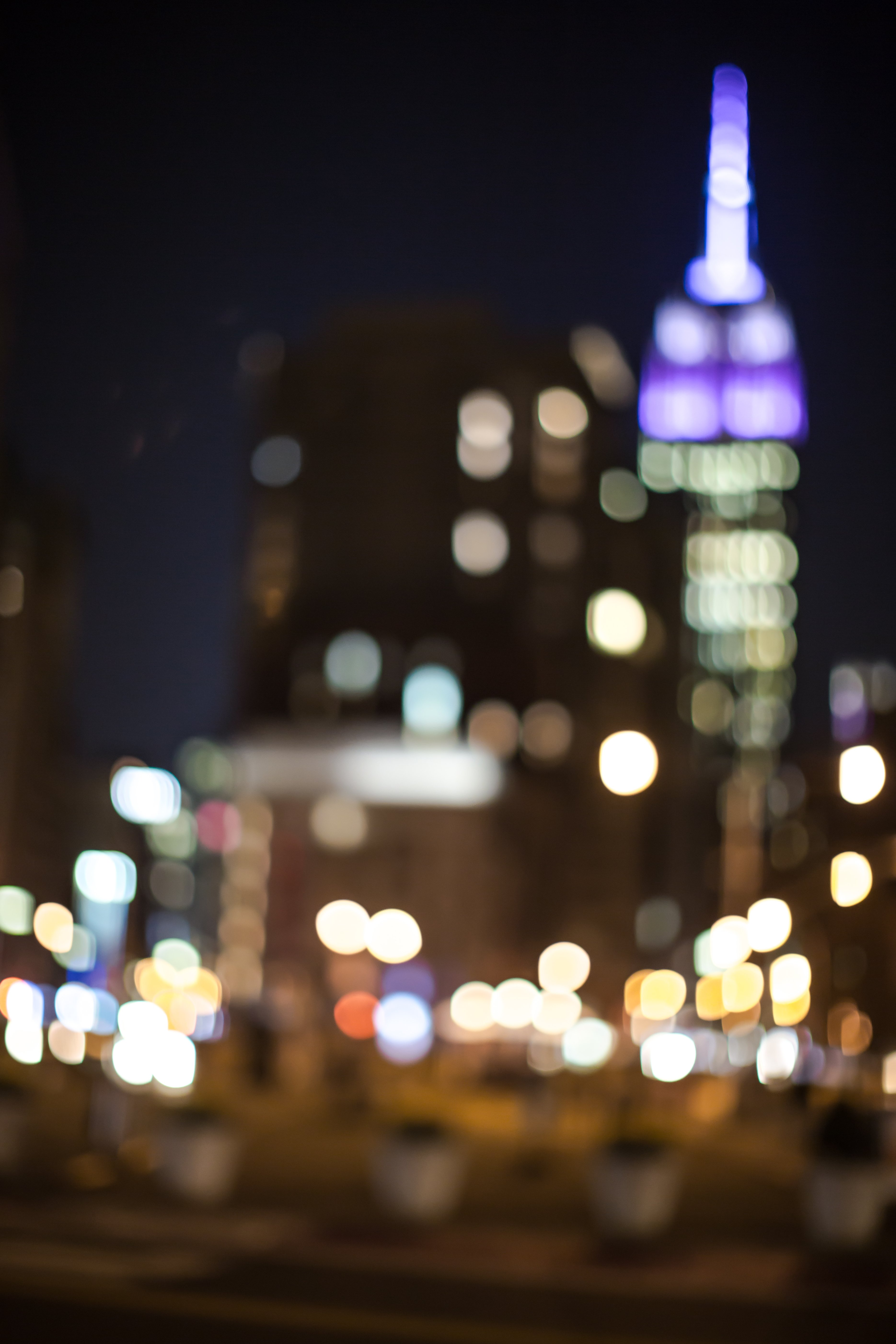 Blurred street at night example image 1