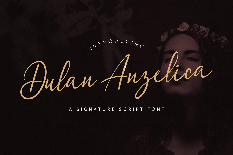 Dulan Anzelica - Signature Script Font example image 1