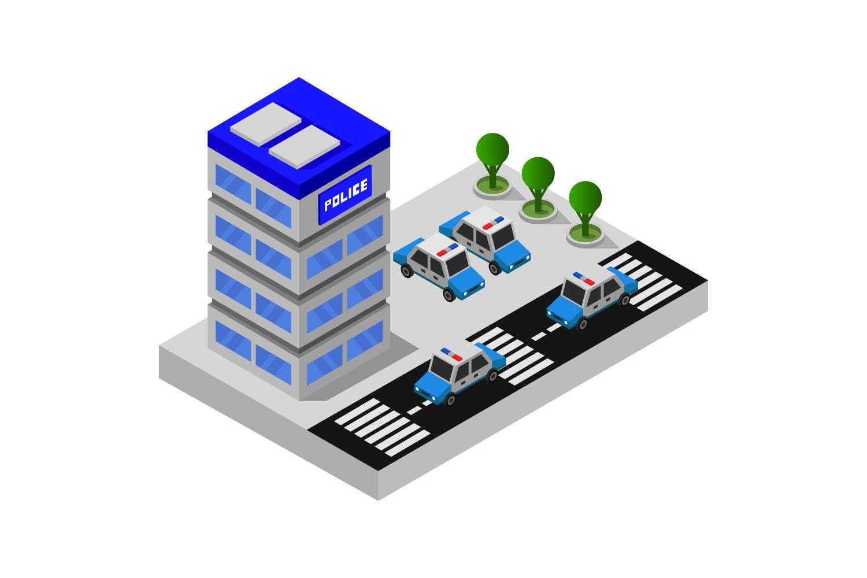isometric police station example image 1