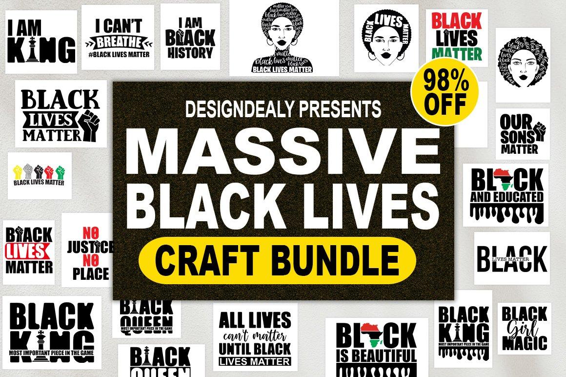 Black lives matter svg,Black Lives bundle,Black lives sign example image 1