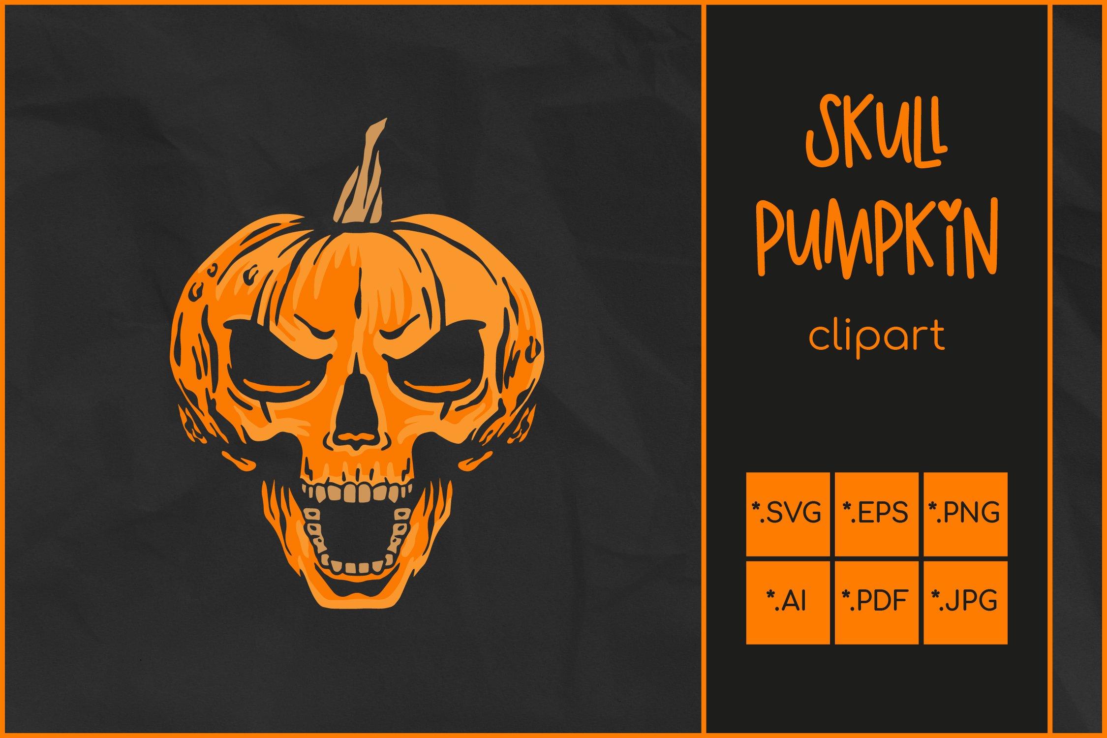 Halloween Svg Skull Pumpkin Svg Jack O Lantern Skull Rocks 952992 Illustrations Design Bundles