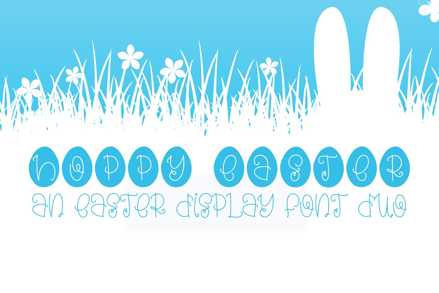 Hoppy Easter - An Easter Display Font Duo example image 1