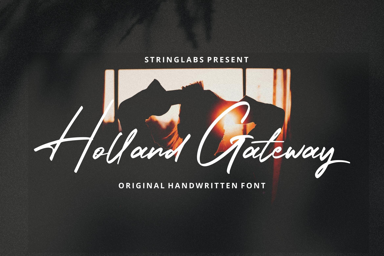 Holland Gateway - Handwritten Script Font example image 5
