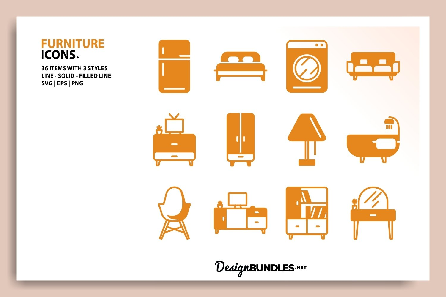 Furniture Icons example image 3