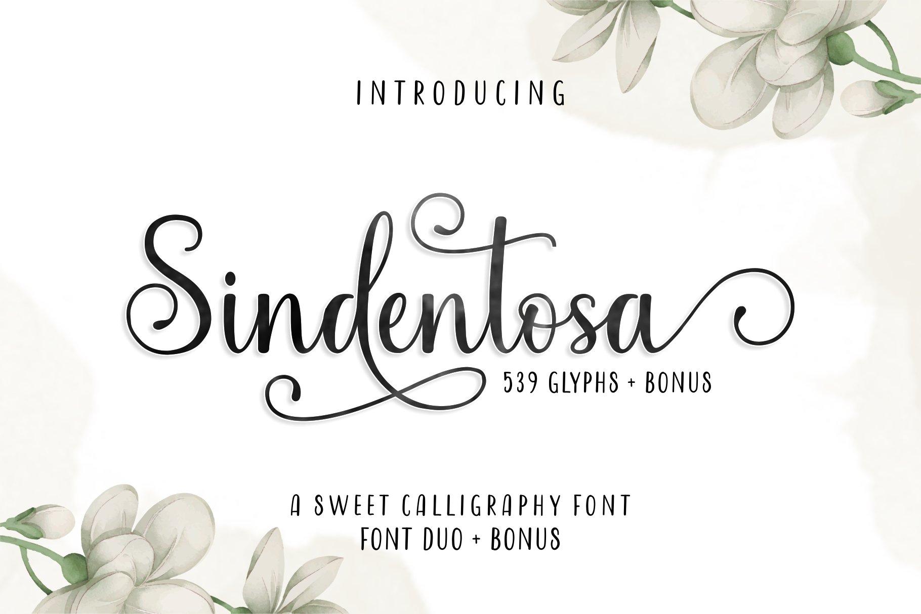Sindentosa Font Duo & Bonus example image 1