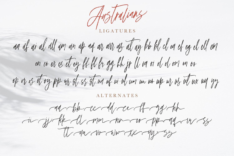 Australians - Handwritten Font example image 8