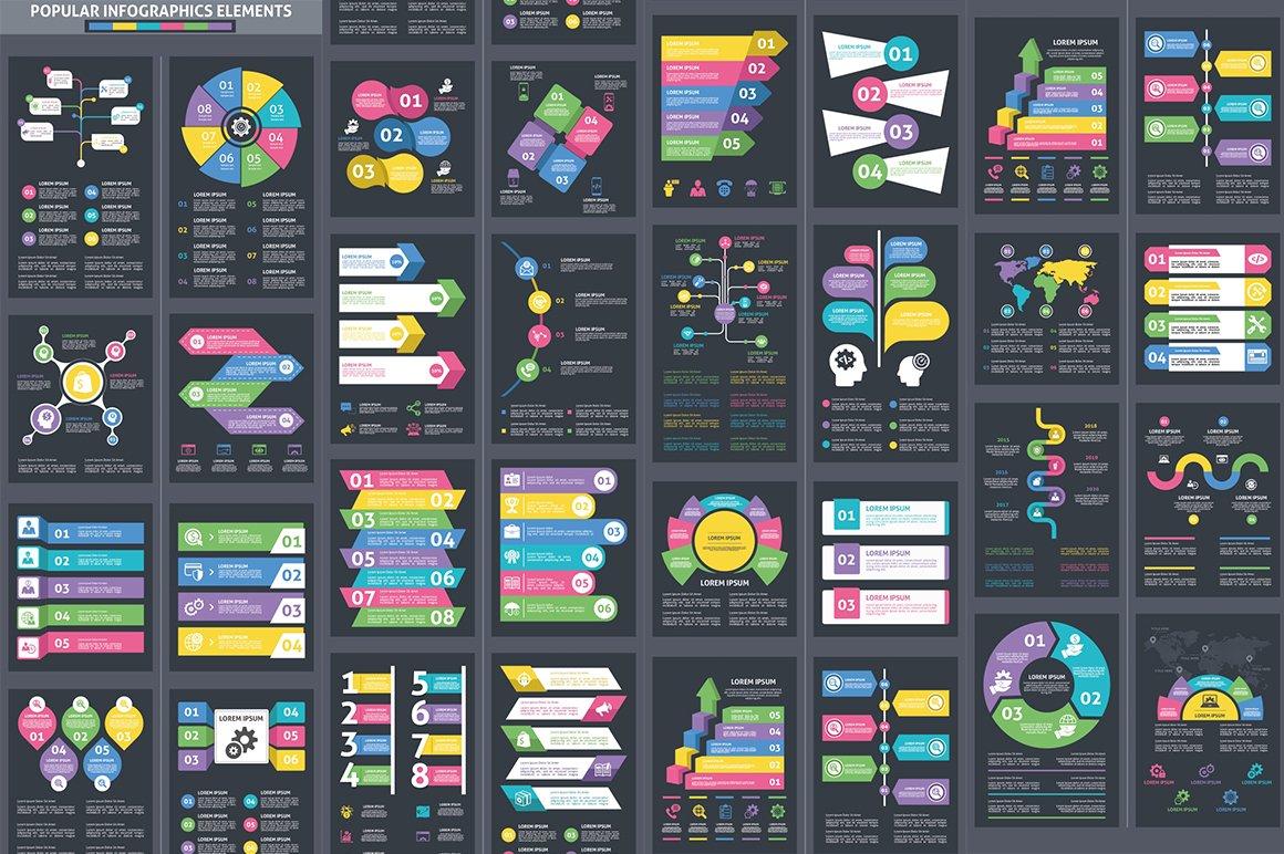 1000 Ultra Big Bundle Infographics Elements example image 9