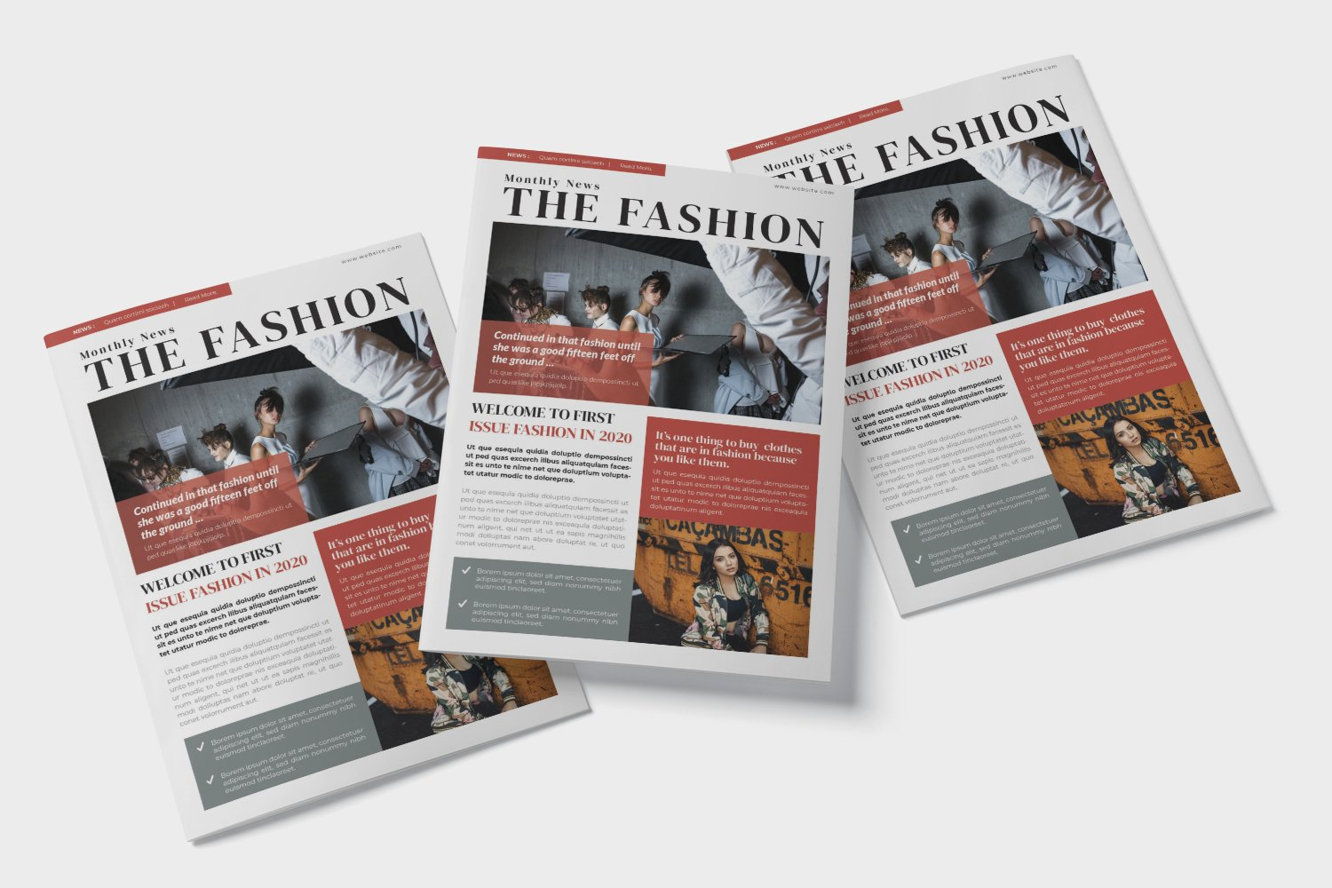 Fashion News Newsletter Template example image 3