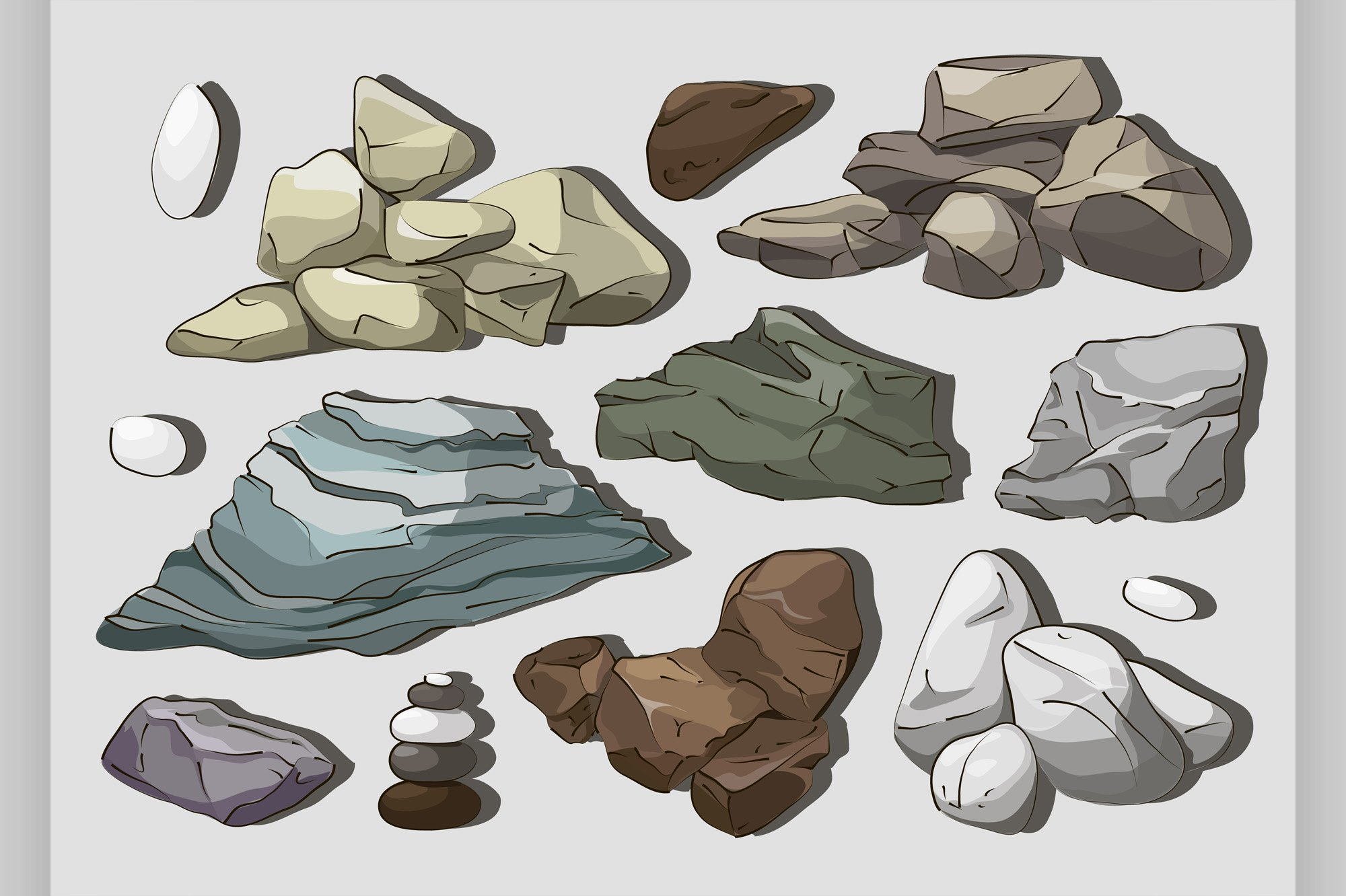 Rocks and stones elements example image 1