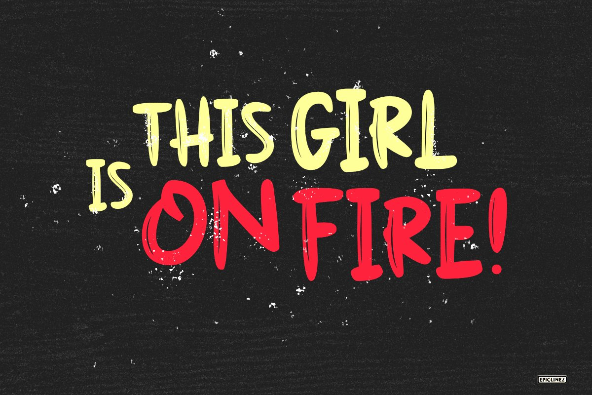 On Fire - A Bold Display Font example image 2