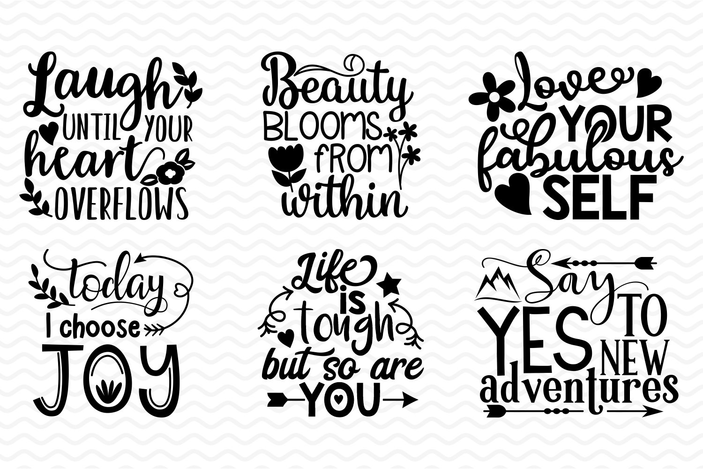 Inspirational and Motivational SVG bundle example image 5