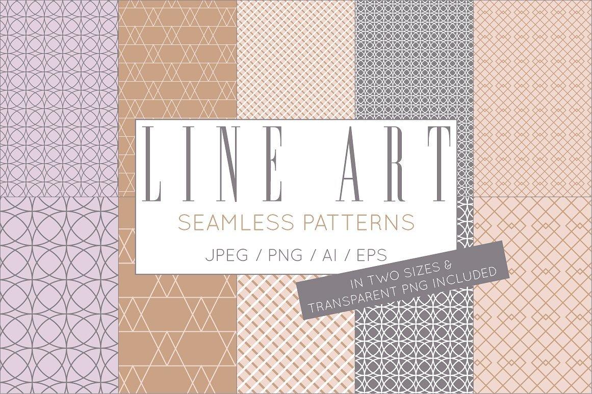 Simple Elegant Line Art Pattern Set example image 4