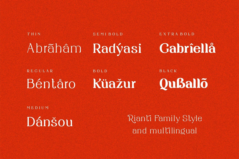 Rianti - beautiful serif font family example image 12