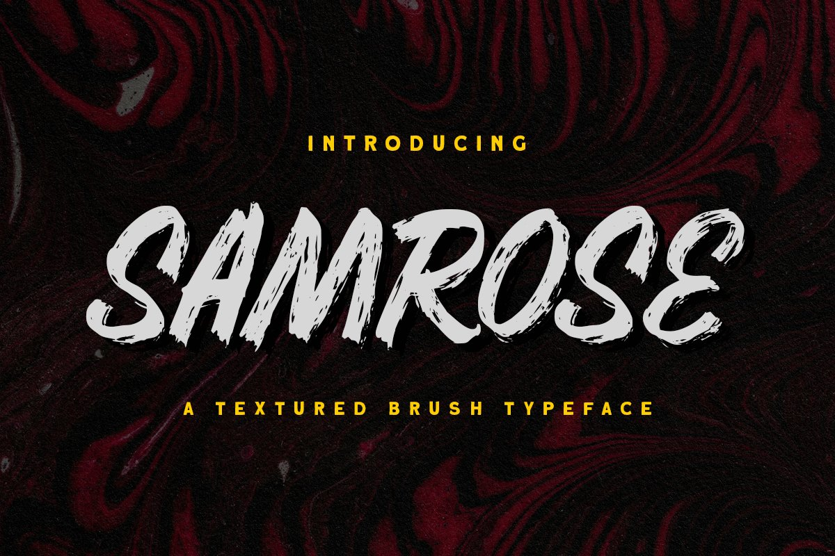 Samrose - Textured Brush Typeface example image 1