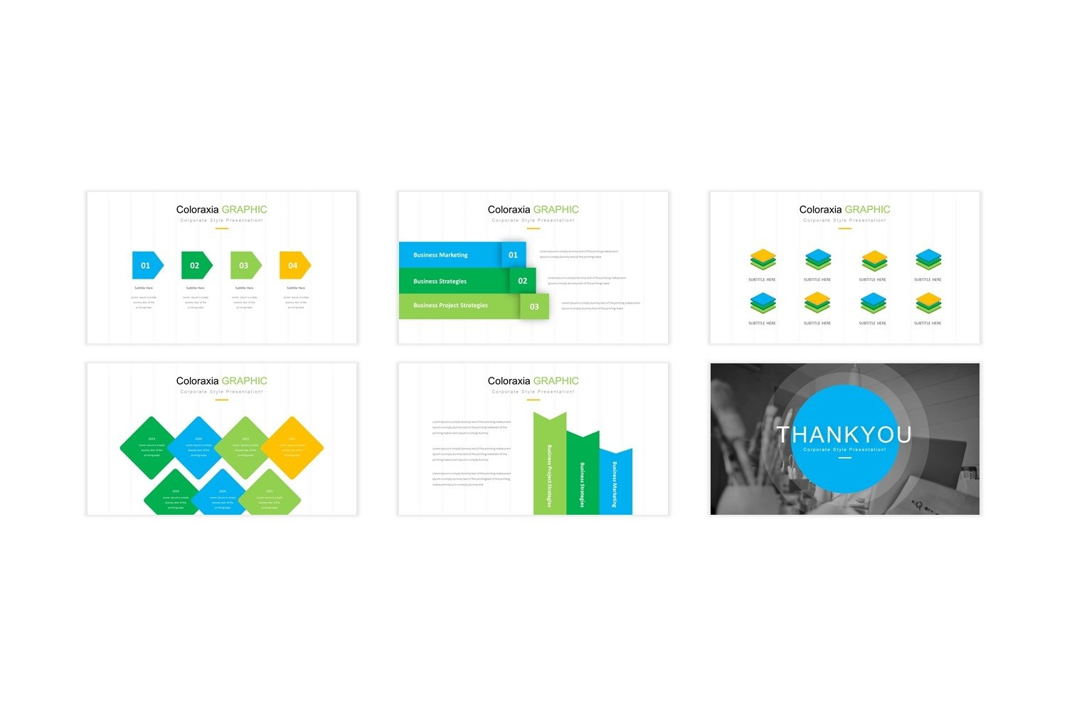 Coloraxia Template - Powerpoint example image 2