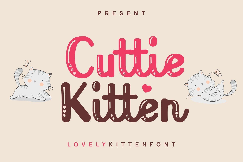 Cutie Kitten - Lovely Kitten Font example image 1