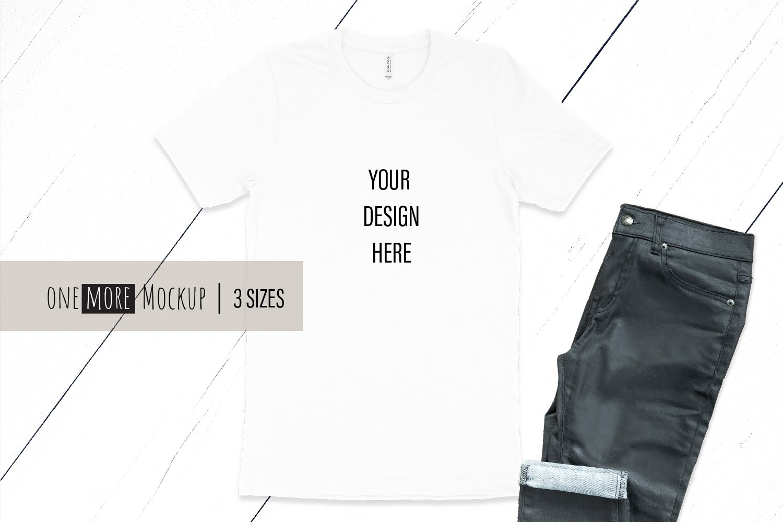 White TShirt Mockup | Bella Canvas 3001 White example image 1
