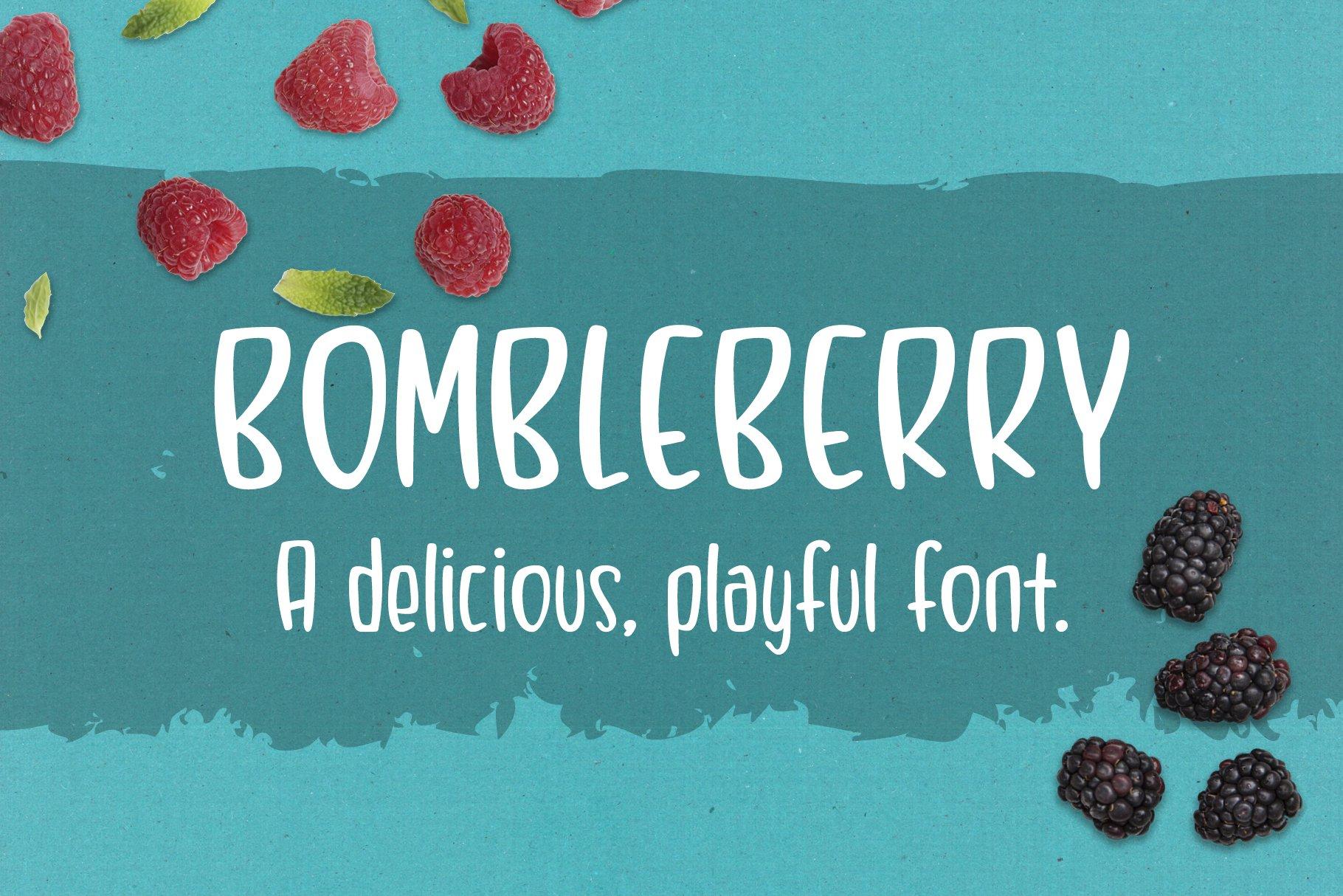 Bombleberry - a playful & tasty font example image 2