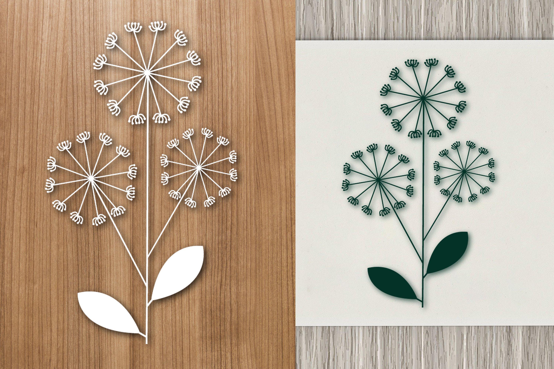 Dandelion Flower Paper Template Design example image 1