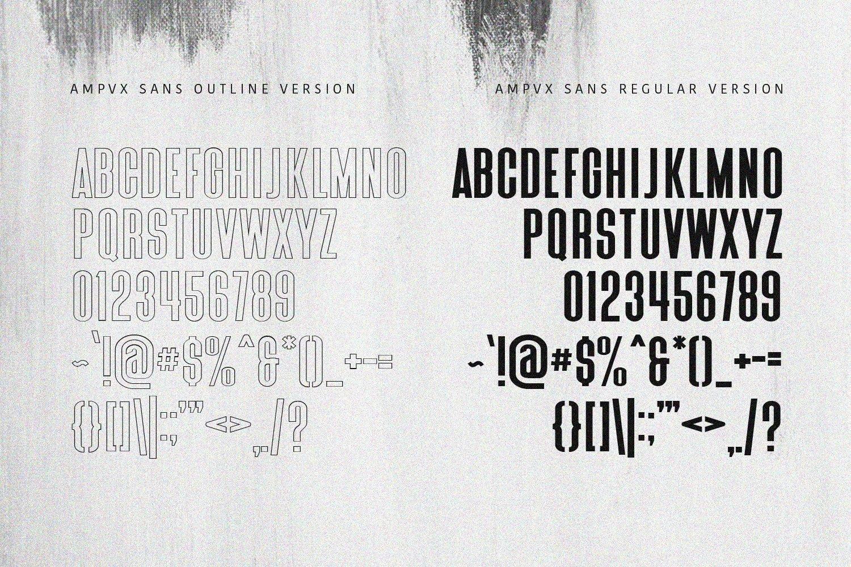 AMPVX SVG Brush Font Free Sans example image 7