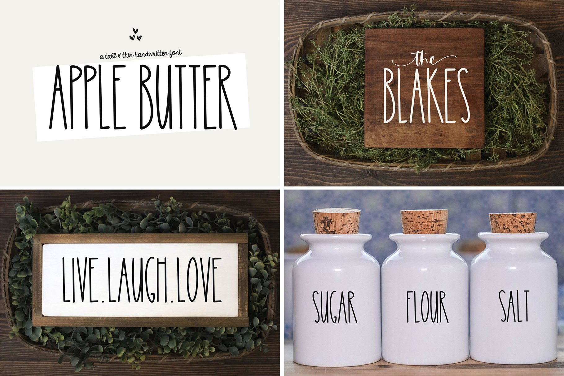 Farmhouse Font Bundle - Handwritten Fonts for Crafters! example image 4