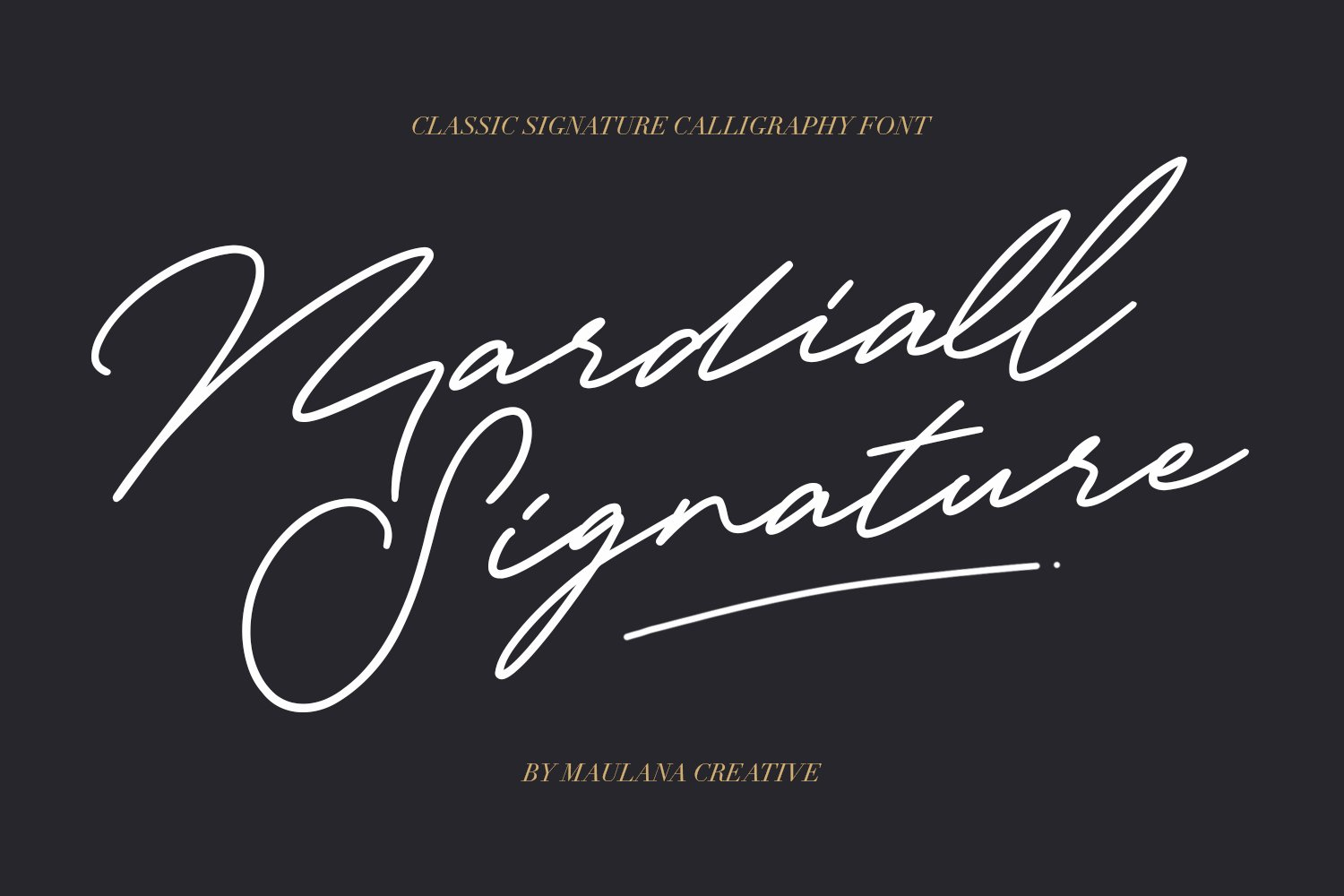 Mardiall Signature Font example image 1