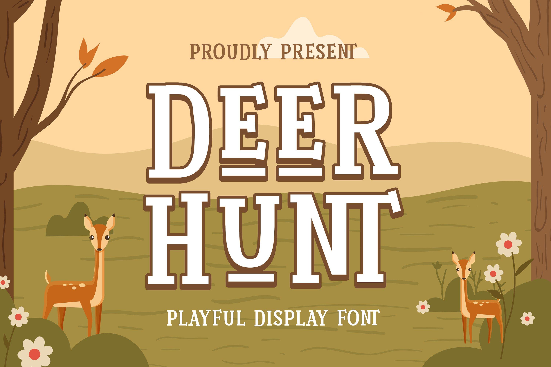 Deer Hunt Font example image 1