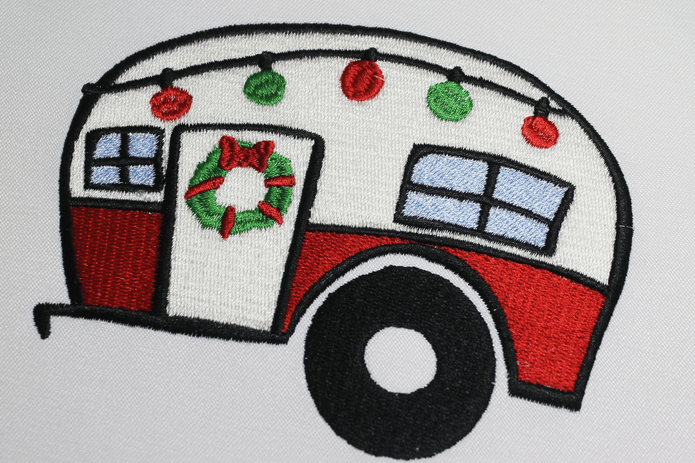 Christmas Trailer Emroidery 3 sizes example image 2