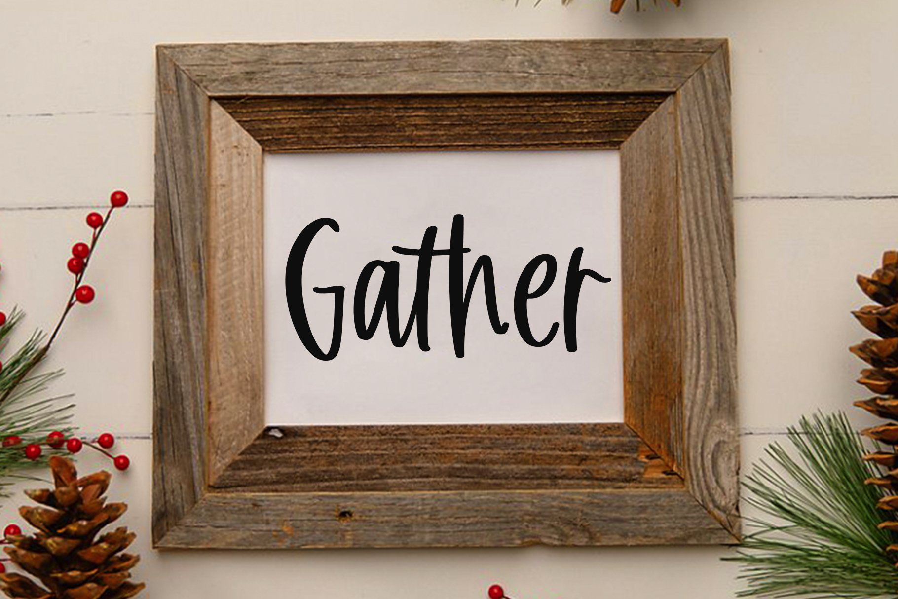 Gather - A Handwritten Font example image 7
