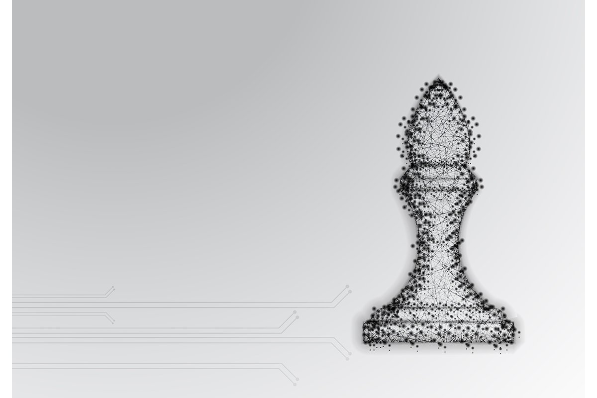 Chess Bishop. Abstract Low Poly Design. Strategy Concept. Fr example image 1