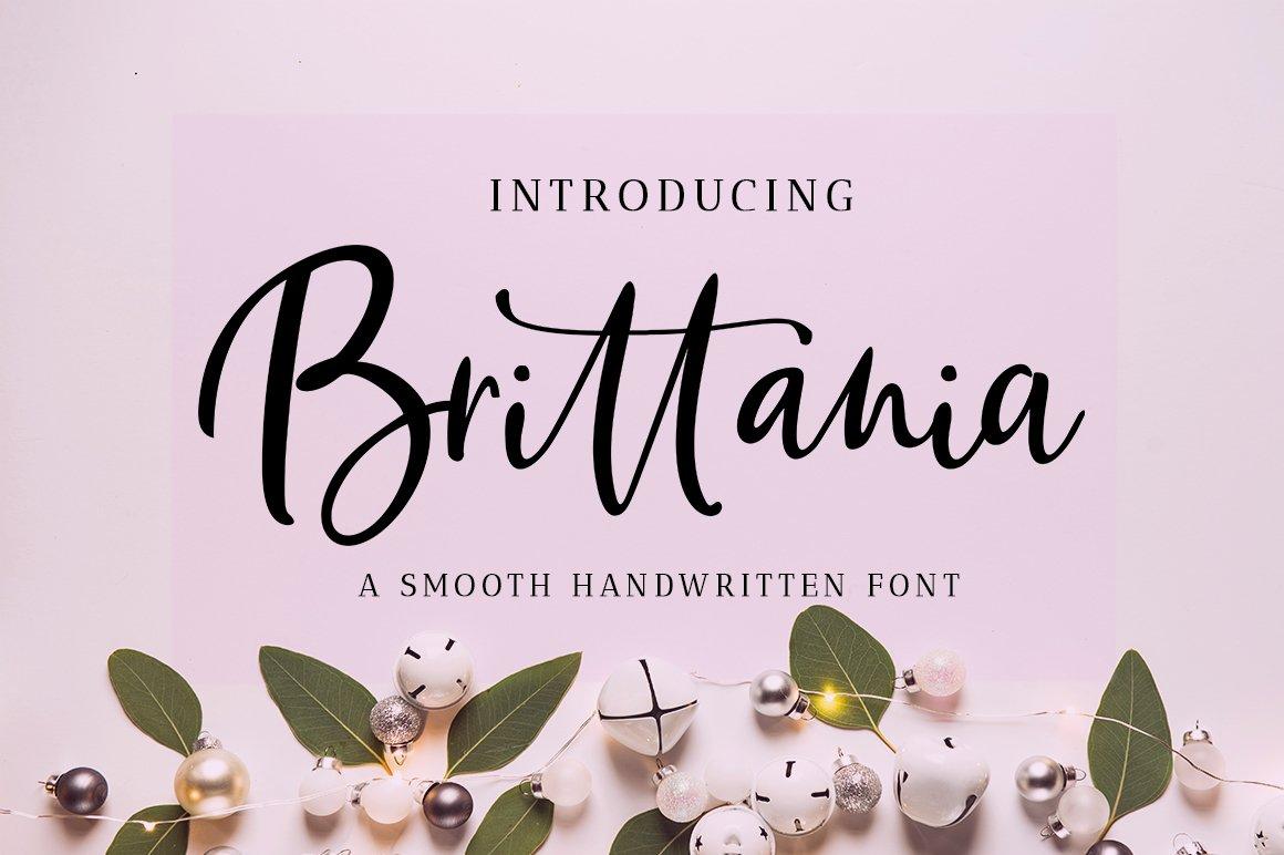 Brittania Script example image 1