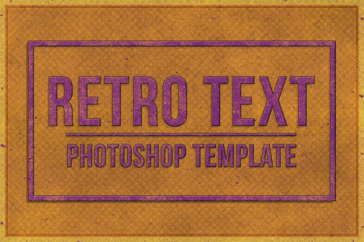 Retro Text Effect for Photoshop example image 1