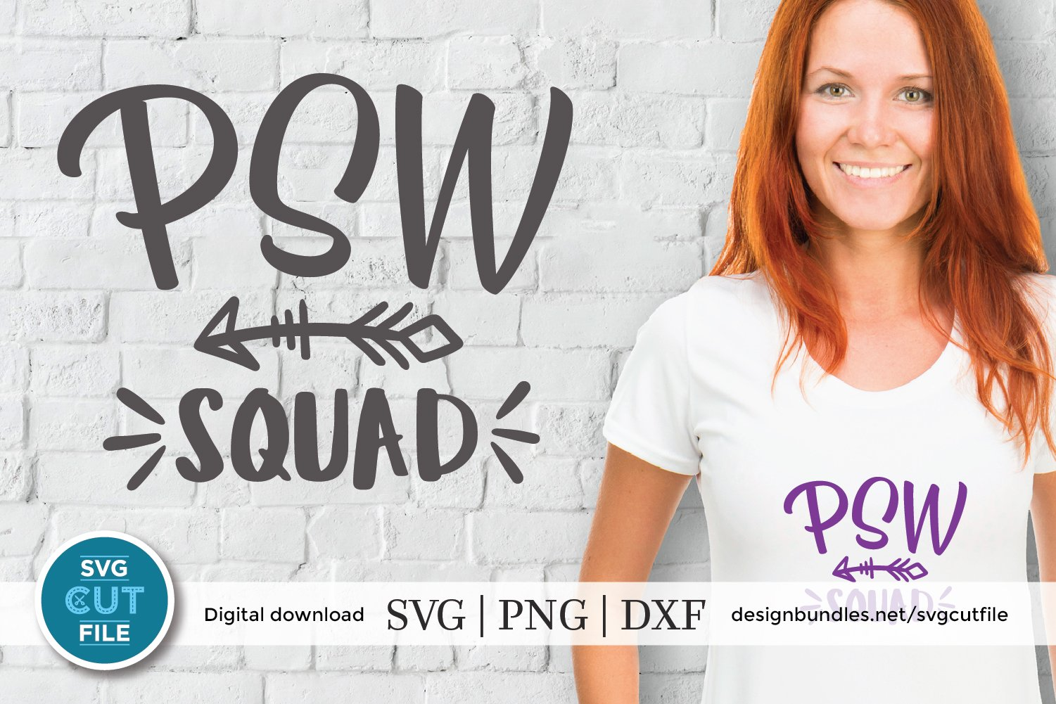 PSW squad with arrow svg-a Personal support worker svg file example image 1
