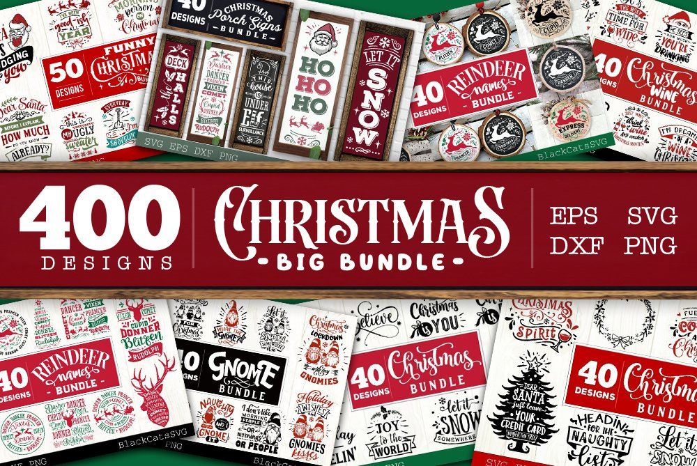 Christmas BIG Bundle SVG bundle 400 designs