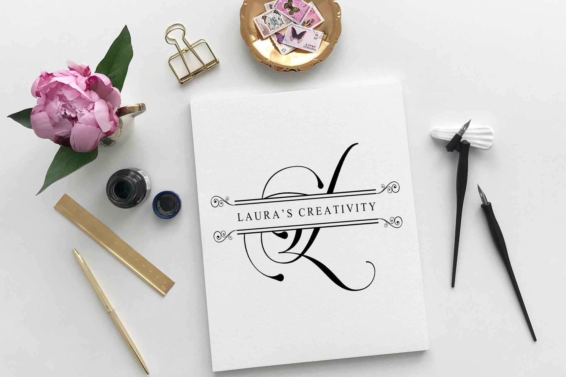 Flourish Monogram example image 3