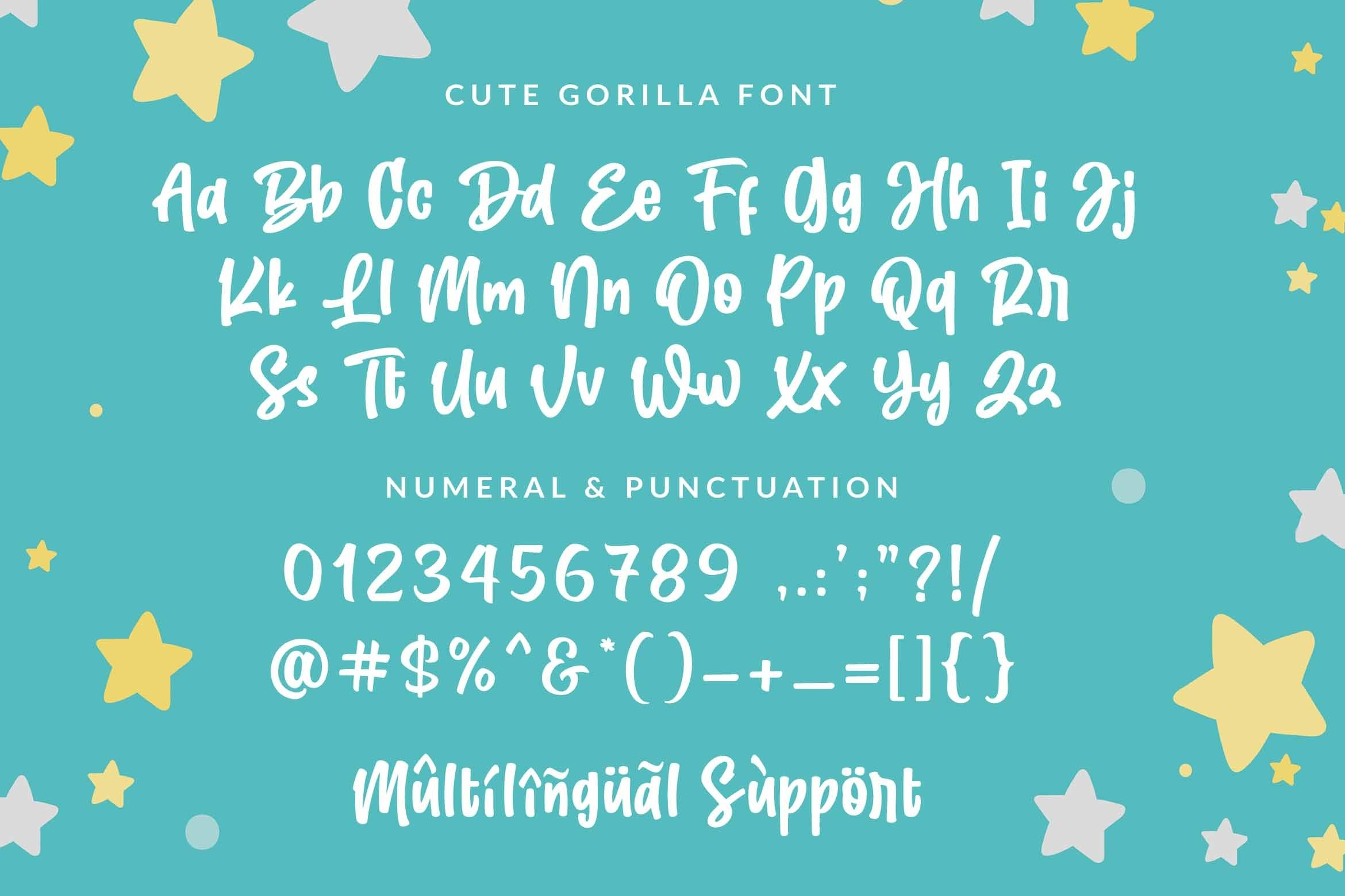 Cute Gorilla / Quirky Font example image 6