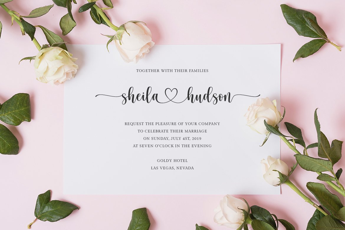 hello honey - a chic script font example image 2