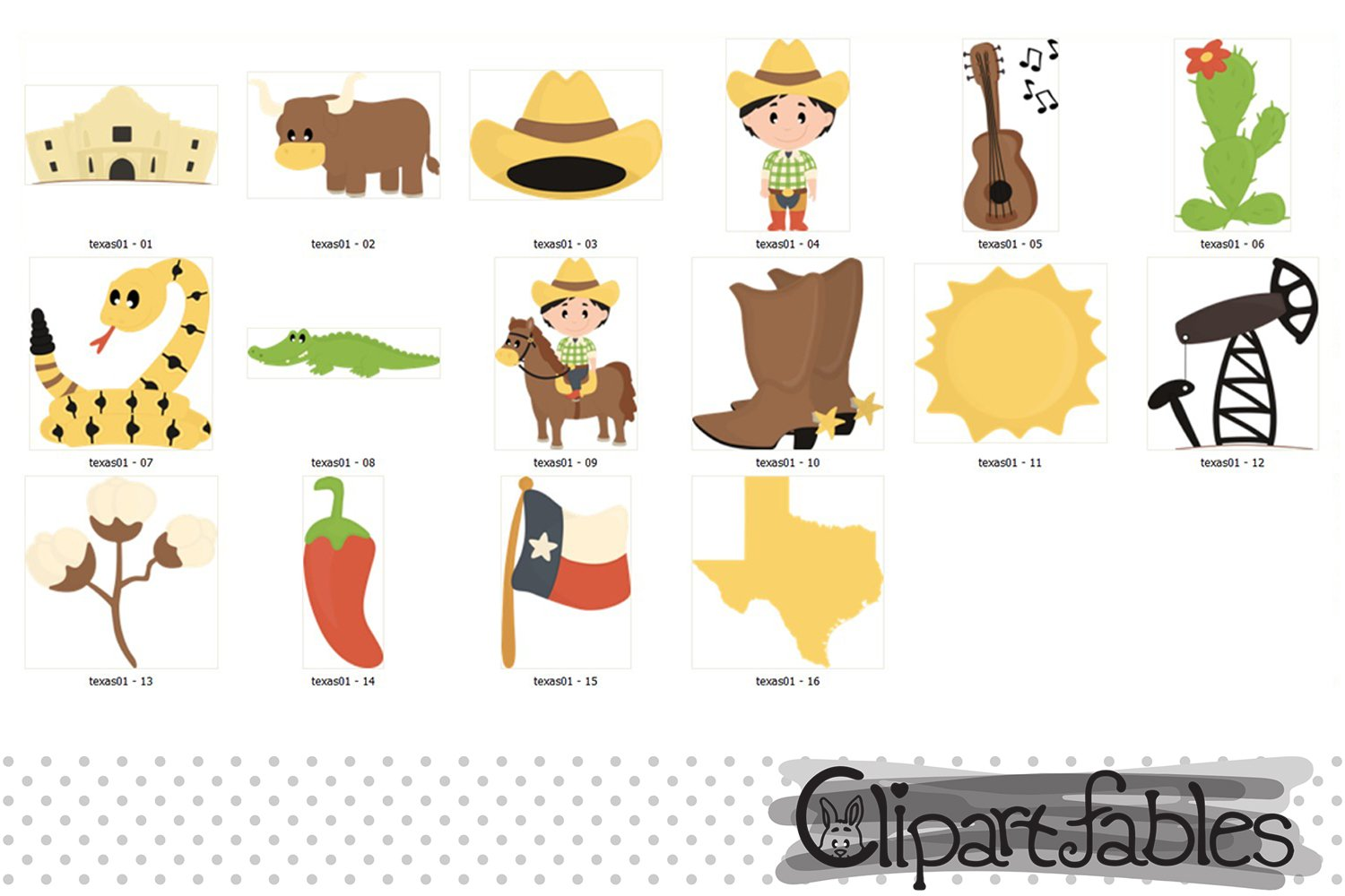 TEXAS STATE clipart, Cute Texas graphic, INSTANT download example image 2