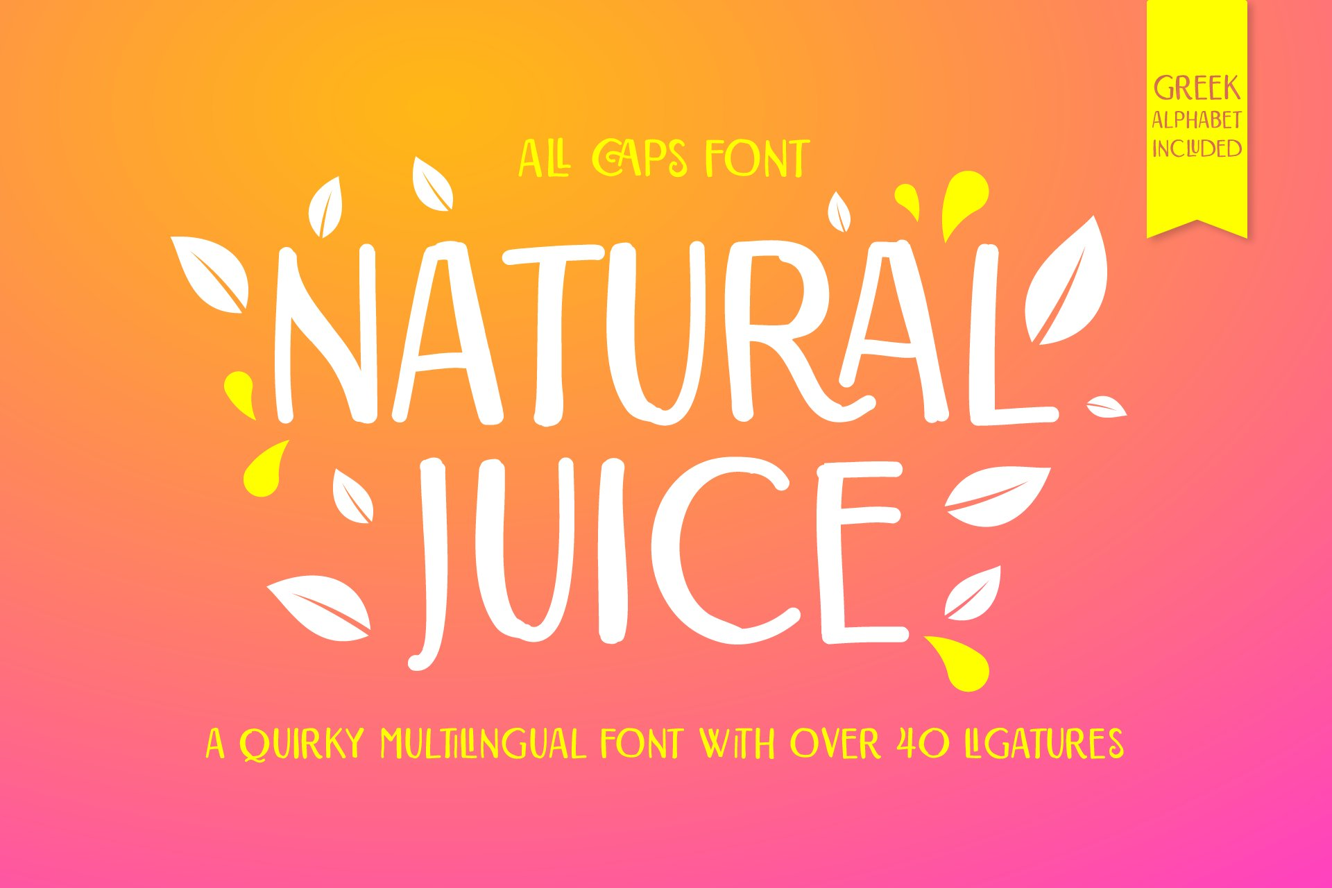 Natural Juice All Caps Font example image 1