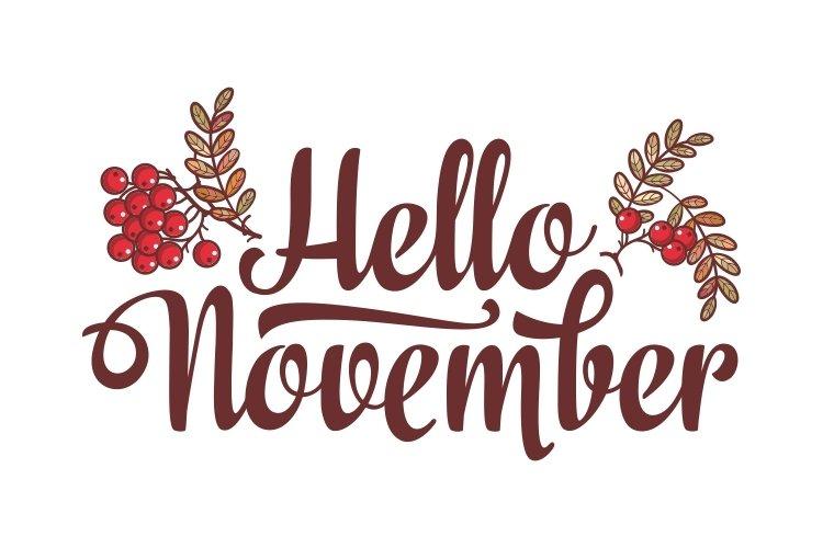 Hello November Lettering 342605 Illustrations Design Bundles